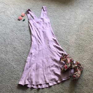 ROBERT RODRIGUEZ lavender mid calf silk dress sz6